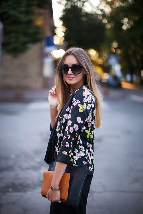 Куртки с цветочным принтом