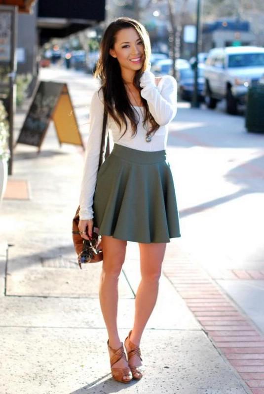 Базовые юбки в женском гардеробе