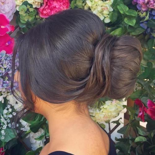 Причёска пучок