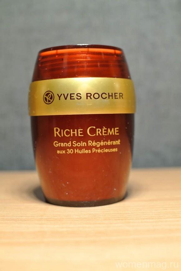 Благотворный ночной крем от морщин Riche Crème Yves Rocher. Отзыв