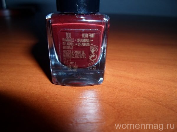 Лак для ногтей Max Factor nailfinity 900 Ruby Fruit
