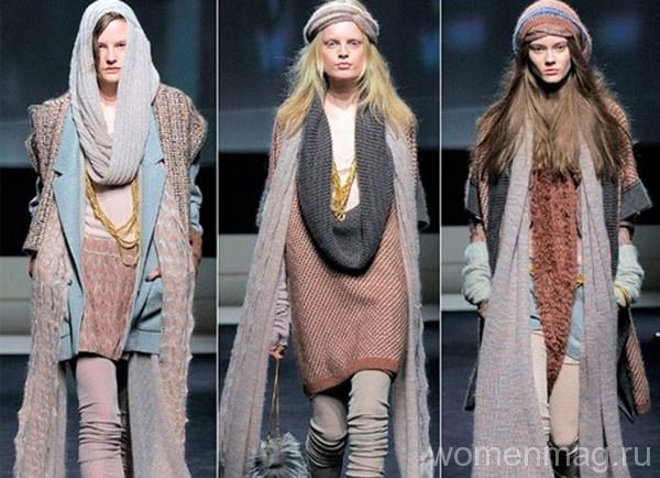 Многослойная одежда для худощавых девушек