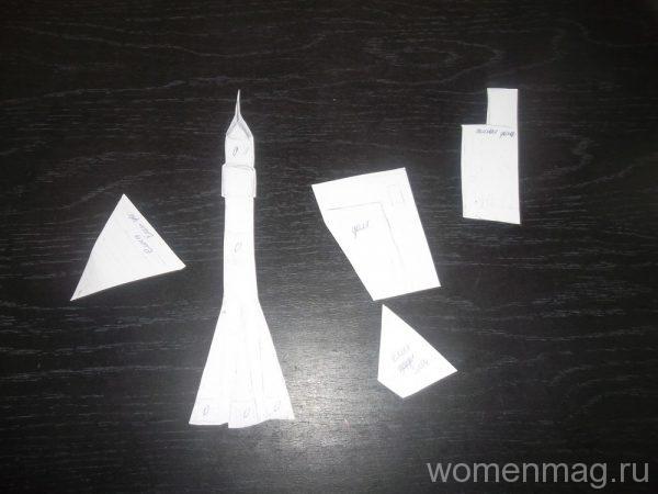 Аппликация из пластилина на картоне Космический музей