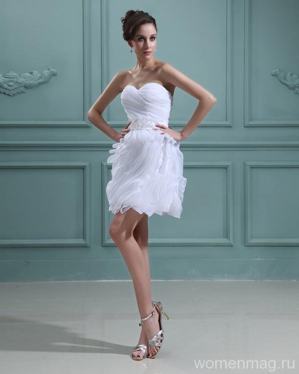 7 достоинств короткого свадебного платья