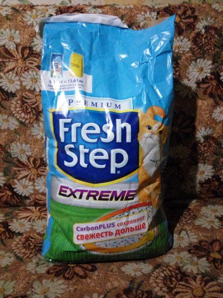 Наполнитель для кошачьего туалета Fresh step