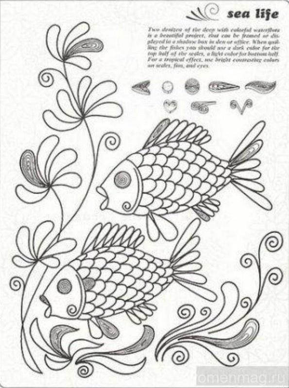 Квиллинг для детей «Золотая рыбка»