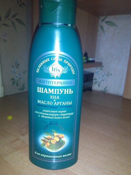 Шампунь хна и масло органы для окрашенных волос Iris