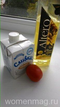 Маска для лица из помидоров и сливок