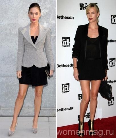 Пиджак и маленькое черное платье