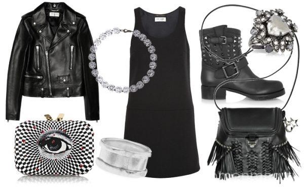 Куртка и маленькое черное платье
