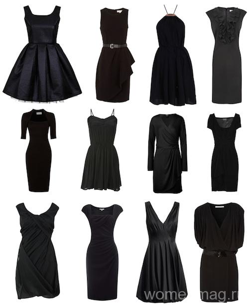 Различные фасоны маленького черного платья