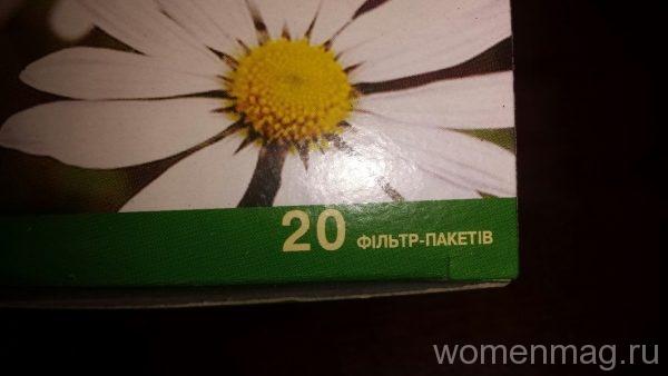 Цветки ромашки в пакетиках