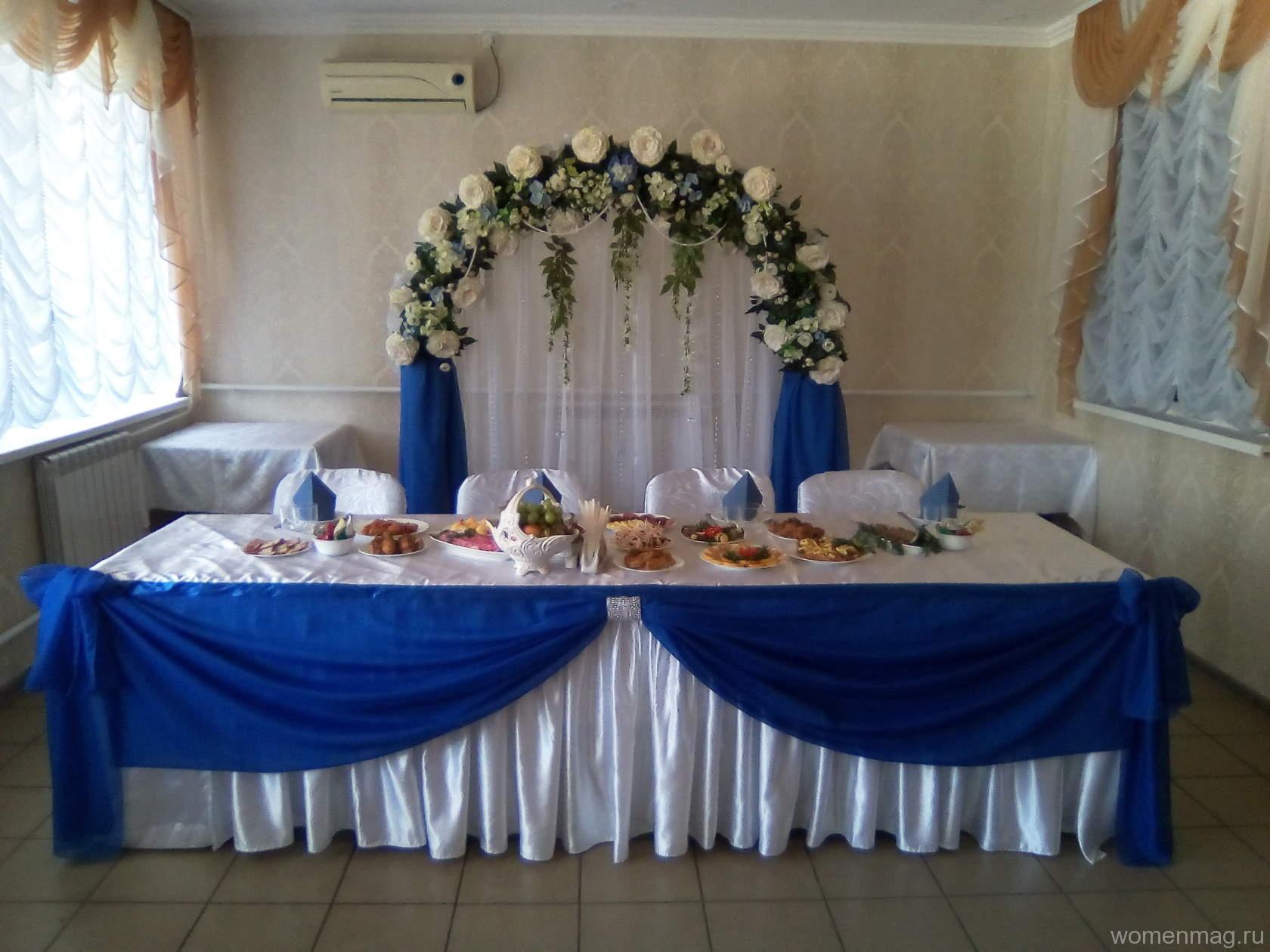 Свадьба в бело-синей гамме