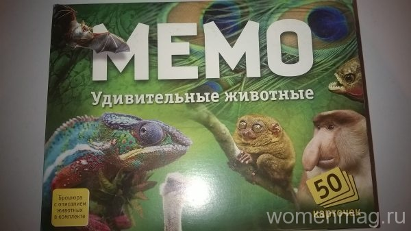 Игра для детей Мемо. Удивительные животные