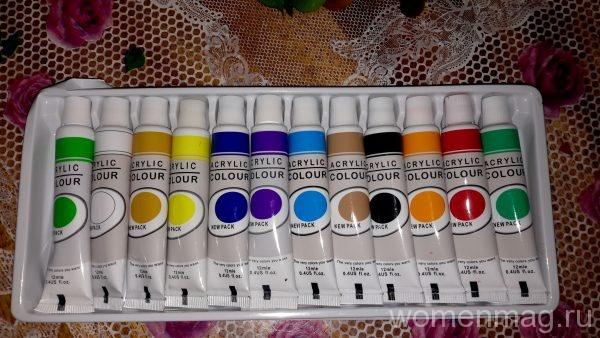 Акриловые краски Acrylic colour LH-6103 12 цветов