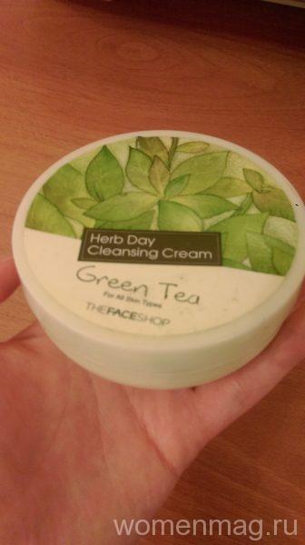 Очищающий крем The Face Shop Herb Day Cleansing Cream Green Tea