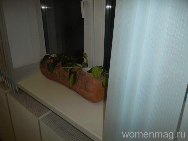 Кашпо под комнатные растения в виде полена