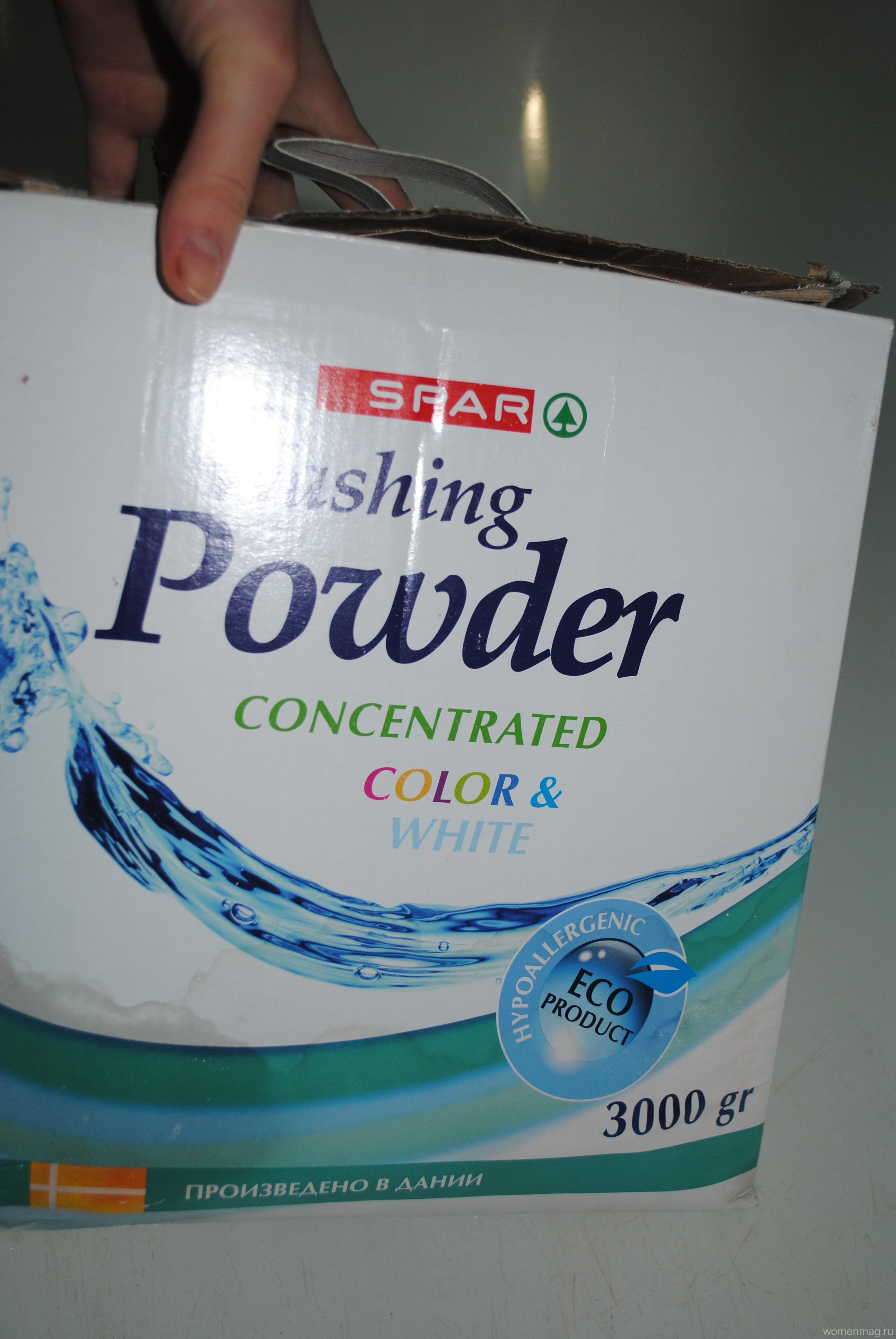 Стиральный порошок Spar Washing Powder Concentrated Color&White. Отзыв