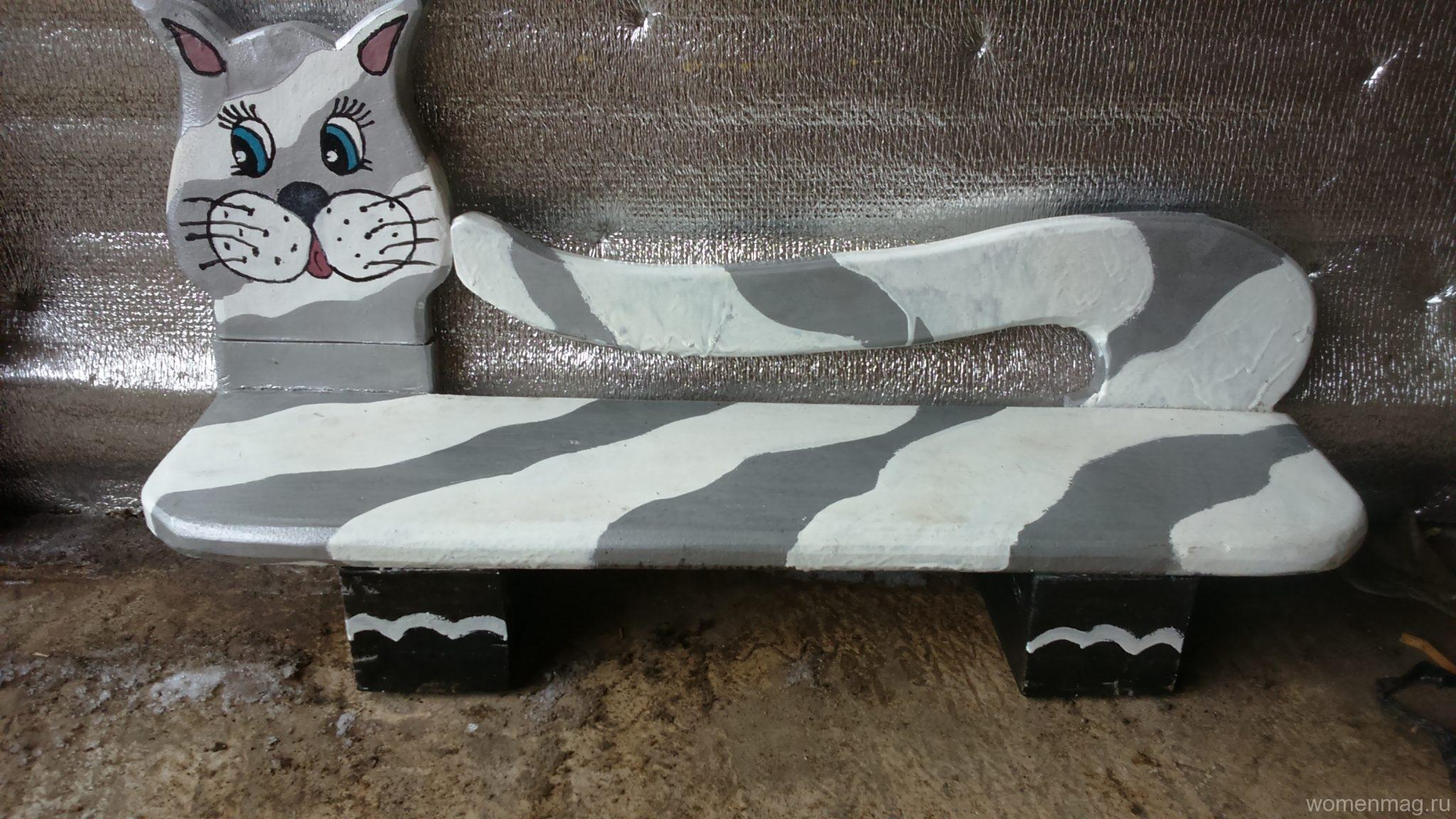 Детская декоративная скамейка для песочницы своими руками