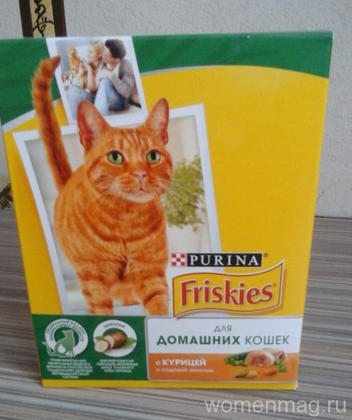 Purina Friskies для домашних кошек с курицей