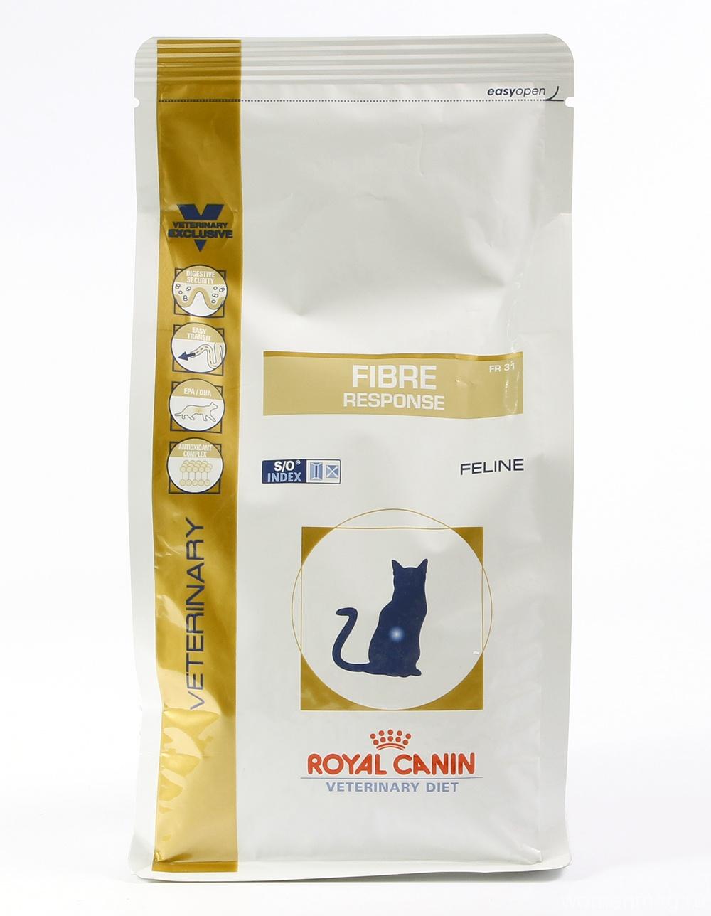 Диета Royal Canin Fibre Response FR31 для кошек при нарушении — помогает ли?