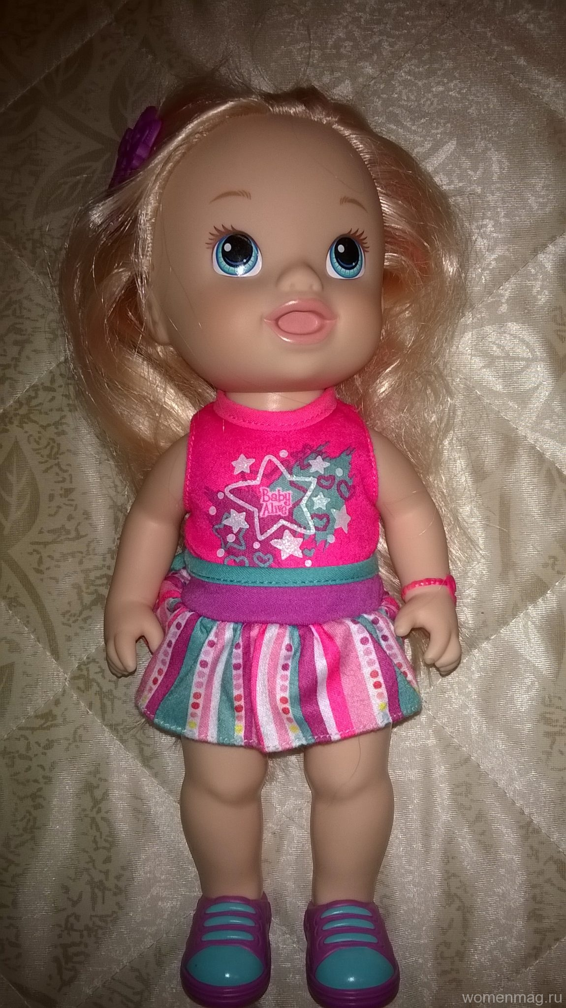 Отзыв на куклу Baby Alive с длинными волосами