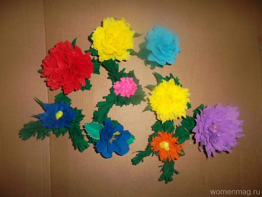 Цветы из бумаги своими руками для украшения стен зала, сцены, класса в школе, группы в детском саду