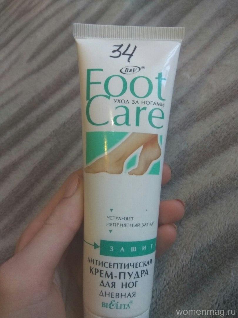 Антисептическая крем-пудра для ног дневная Foot Care от Белита Витекс. Отзыв