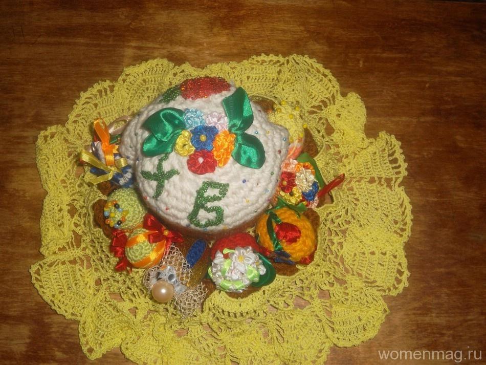 Украшение дома на Пасху: декоративные вязаные пасхальные яйца