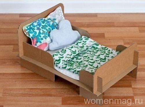 Кроватка для куклы из картона