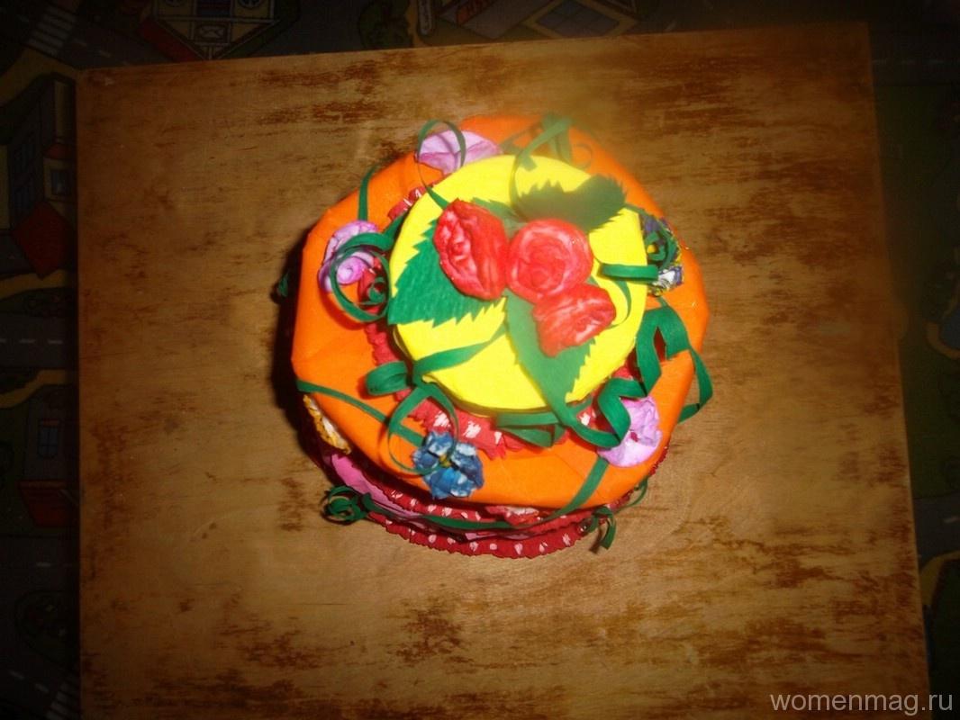 3-ярусный бумажный «торт» для уголка поздравлений своими руками