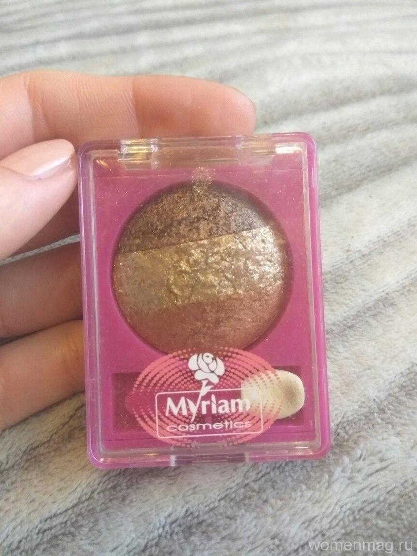 Запеченные тени для век трио от Myriam cosmetics Party оттенок №05. Отзыв