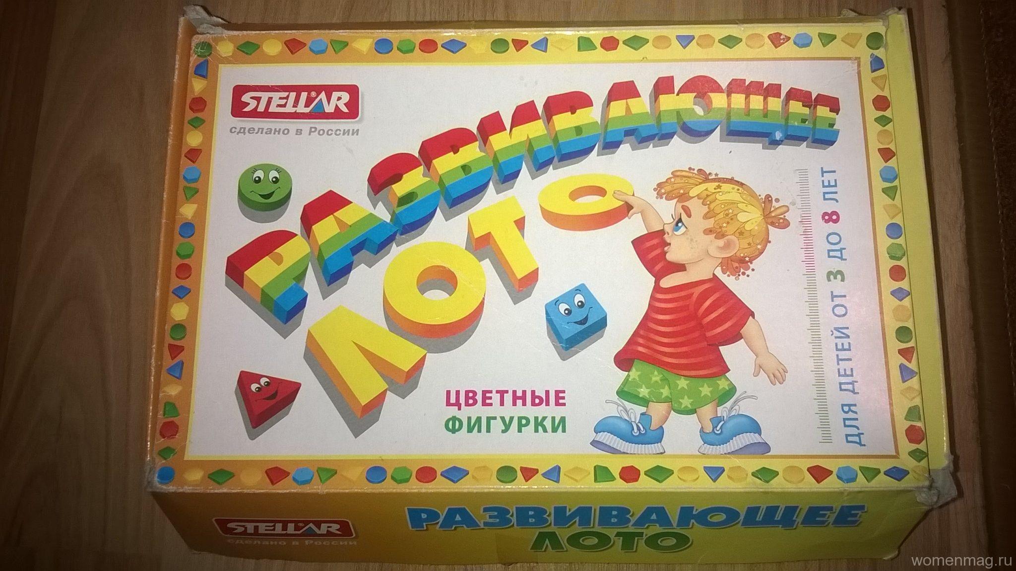 Отзыв о развивающем лото «Цветные фигурки» от Stellar для детей от 3 до 8 лет