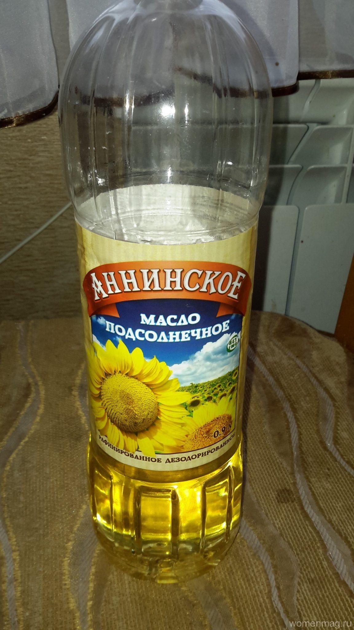 Отзыв на масло подсолнечное «Аннинское»