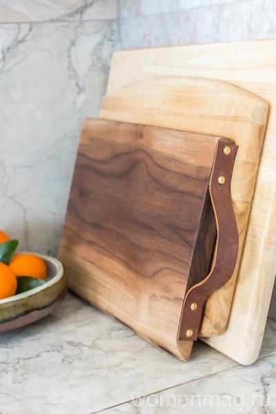 Необычное использование кожи на кухне