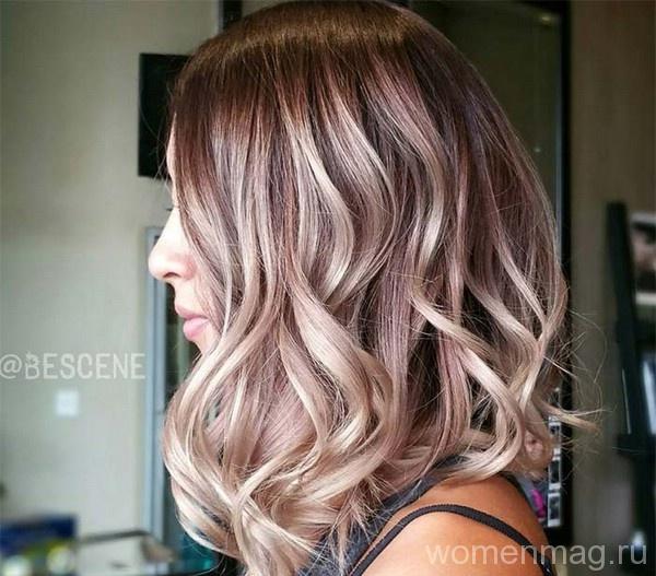 Шоколадный лиловый цвет волос