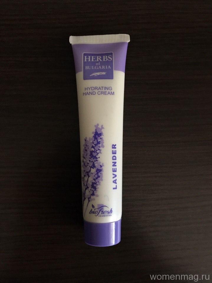Крем для рук Herbs of Bulgaria увлажняющий с лавандой. Отзыв