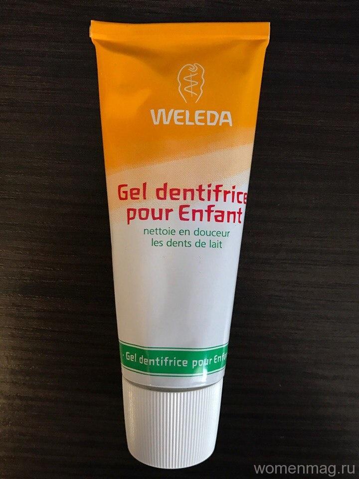 Детская зубная паста-гель Weleda с календулой. Отзыв