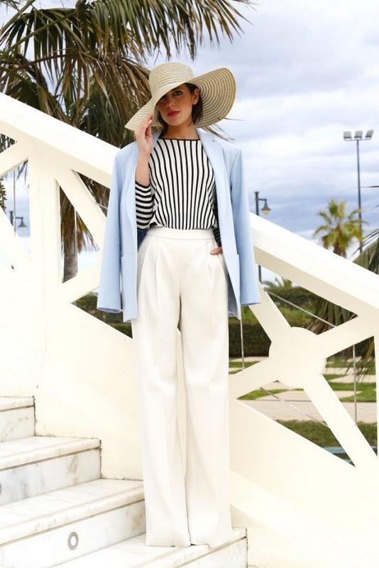 С чем носить модные широкие брюки