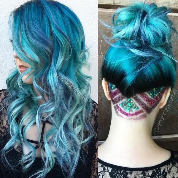 Цветное окрашивание волос