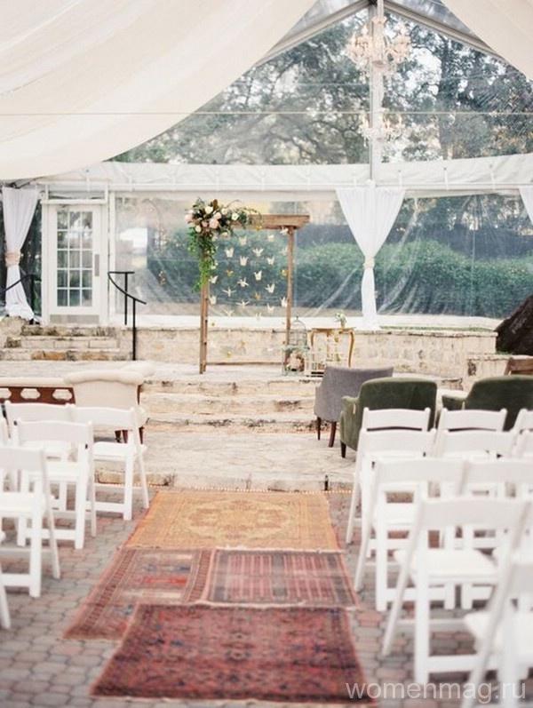 Ковры вместо свадебной дорожки