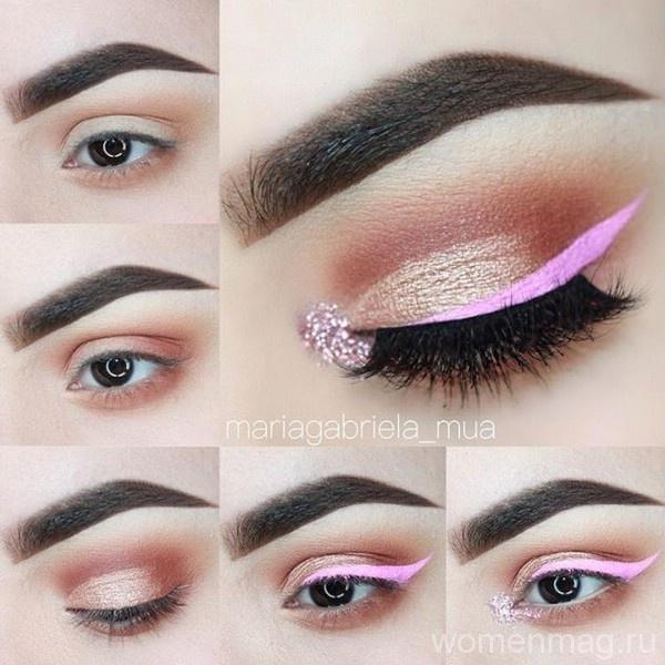 В моде макияж в розовых тонах