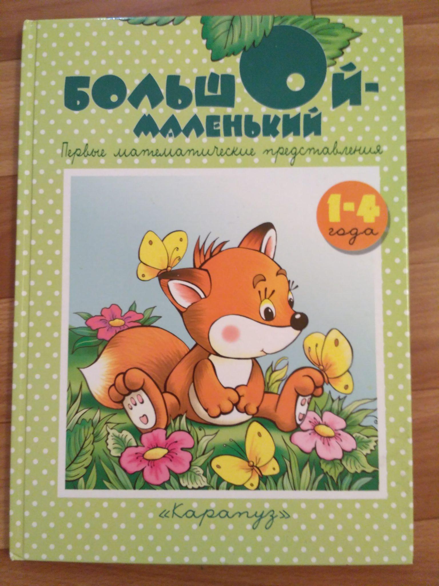Детская книга «Большой-маленький. Первые математические представления»