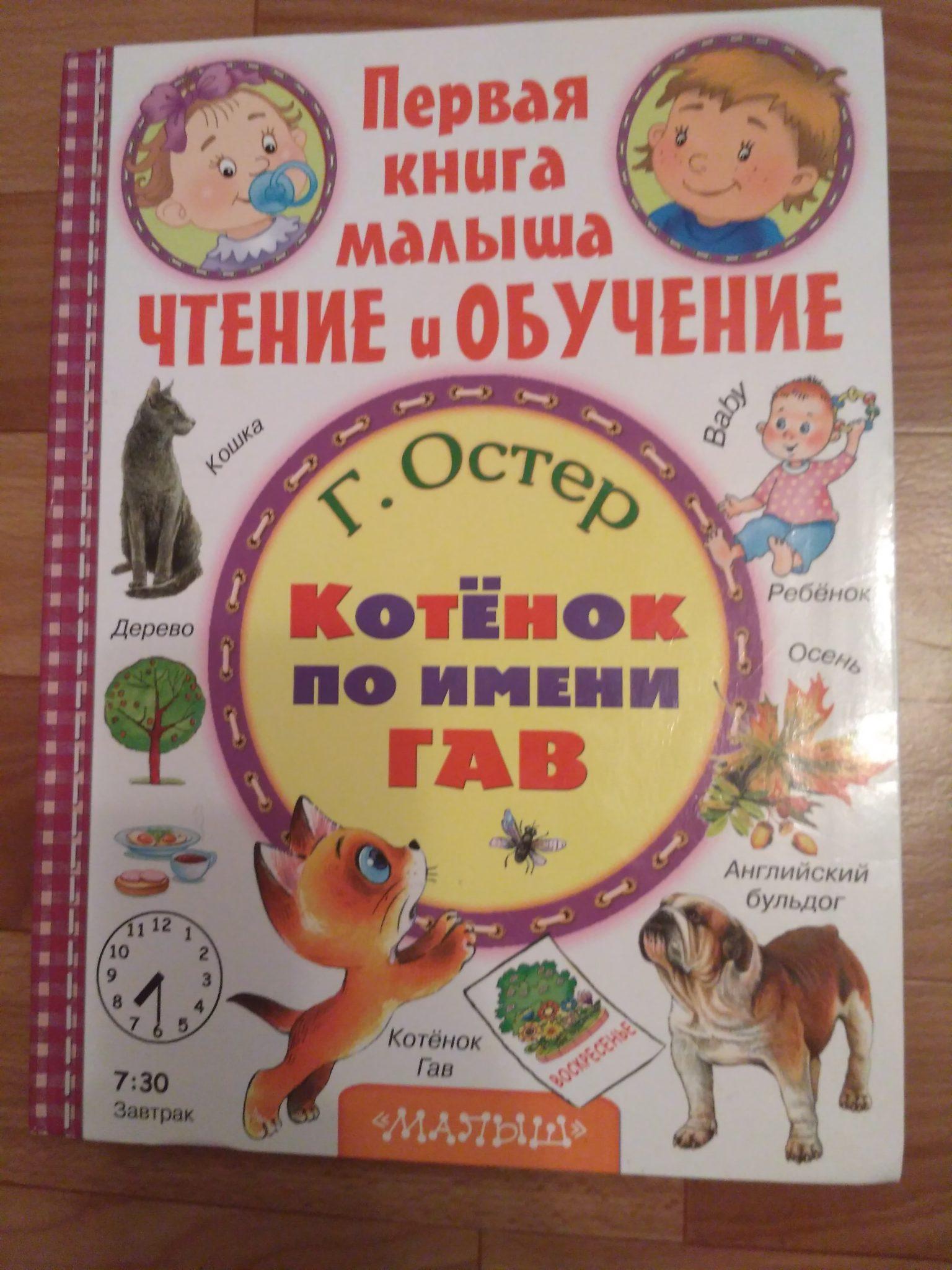 «Первая книга малыша. Котенок по имени Гав»