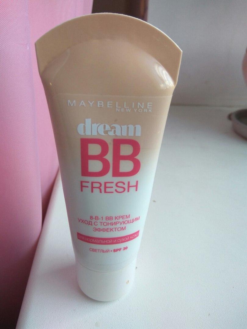 ВВ крем от Maybelline NY «Dream BB fresh» SPF 30 оттенок «светлый». Отзыв