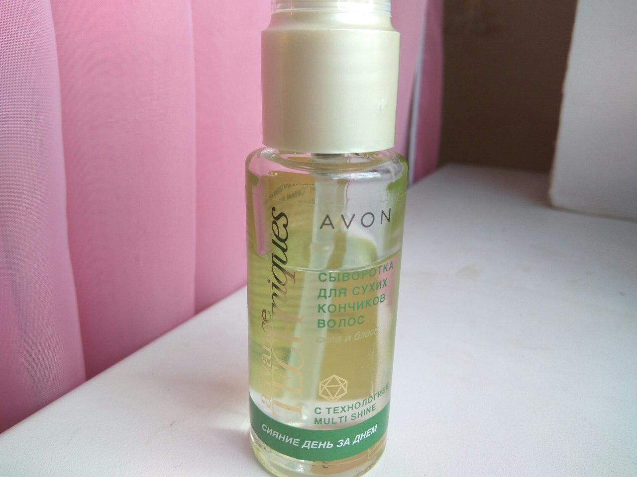 Сыворотка для секущихся кончиков волос «Сияние день за днем» от Avon. Отзыв