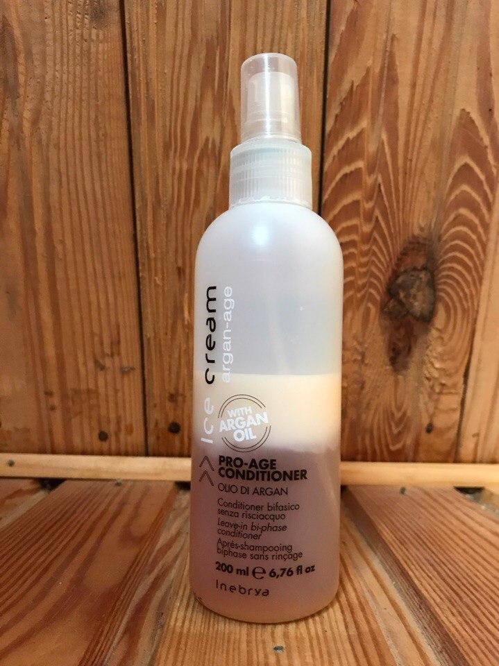 Спрей для волос Inebrya Ice Cream Pro Age 2-Phase Conditioner Argan Oil. Отзыв