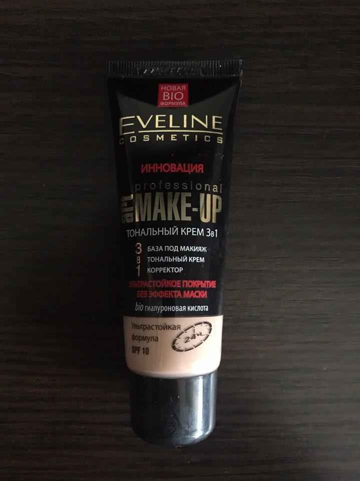 Тональный крем Eveline Инновация 3 в 1 Art Professional Make-up. Отзыв