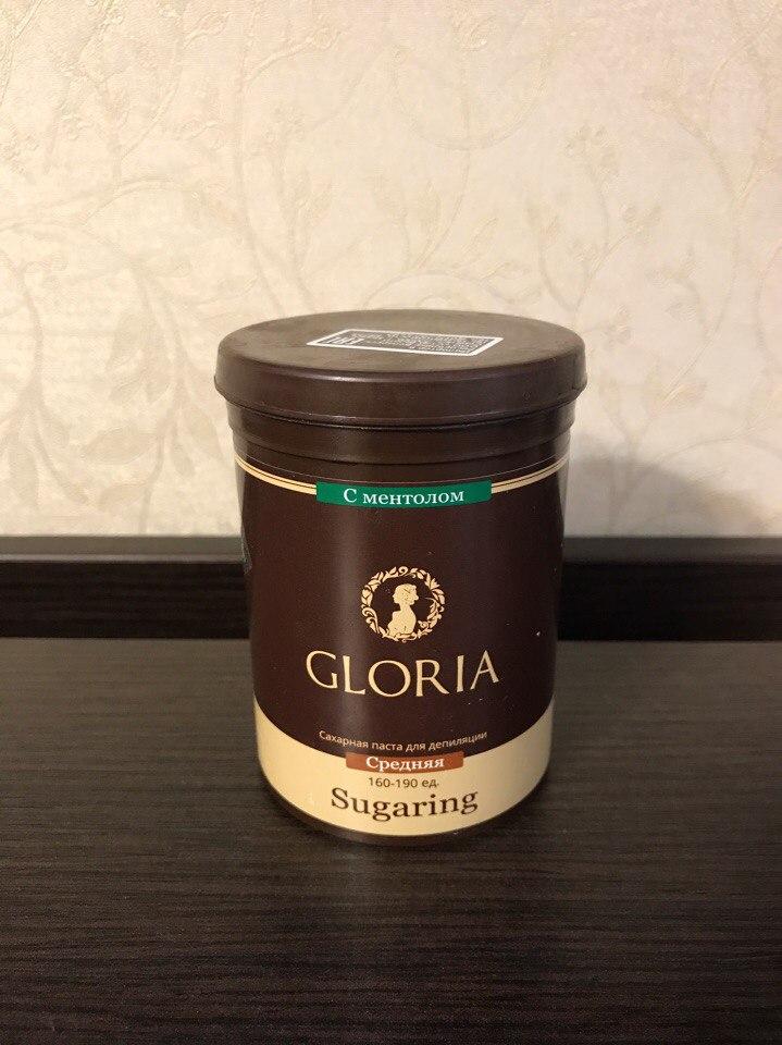 Паста для шугаринга Gloria средняя с ментолом. Отзыв