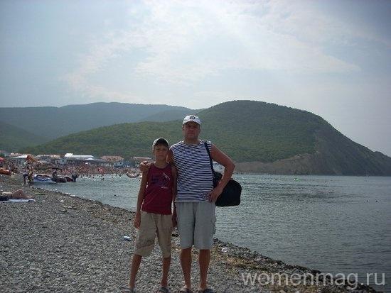 На пляже в Сукко